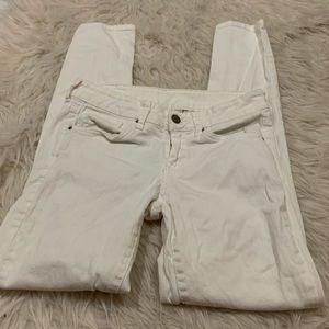MNG Mango white skinny jeans